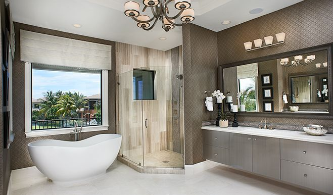 Bathroom Design Richmond this designer bathroom in boca raton, fl, boasts a luxurious