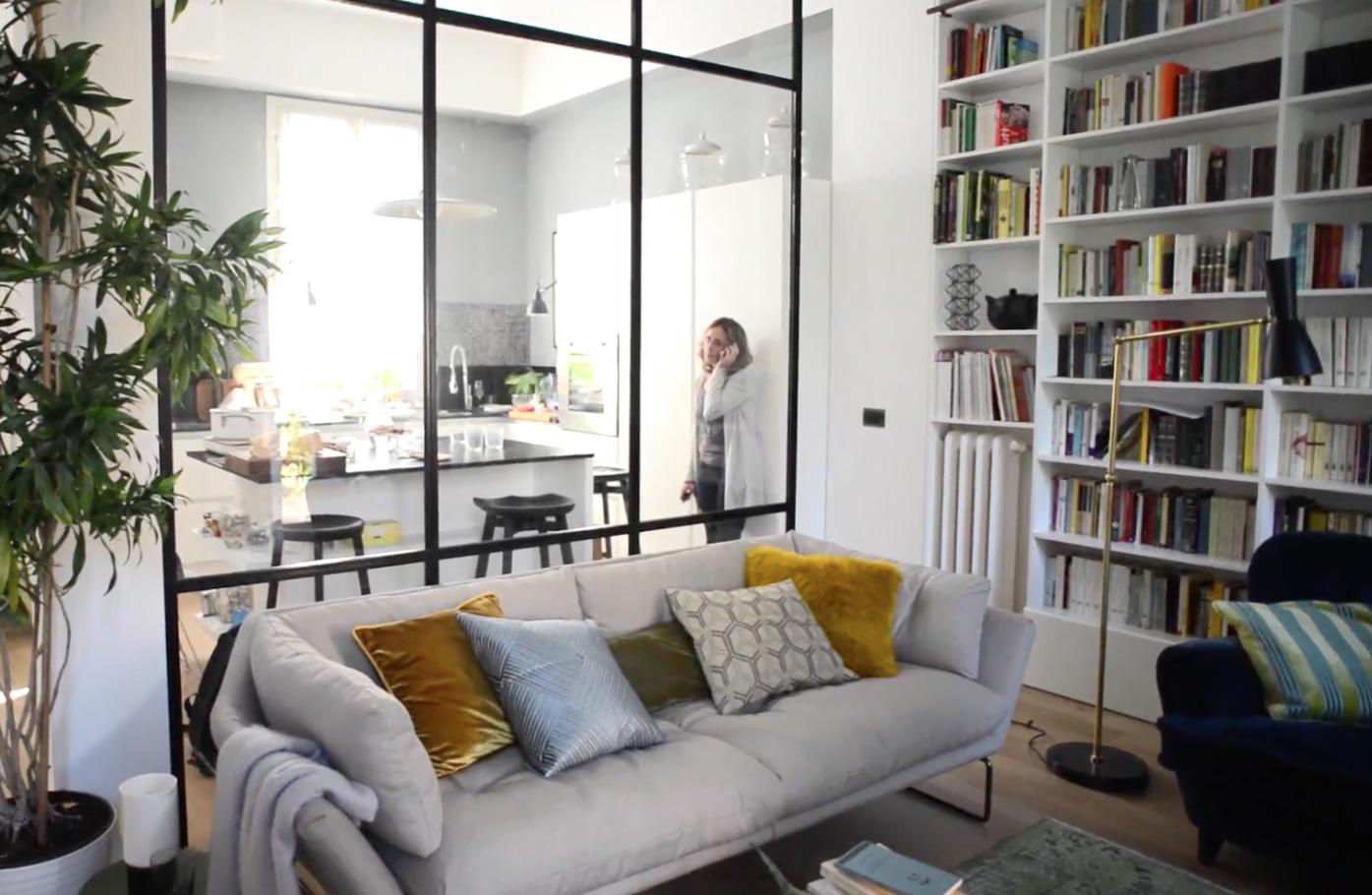 CASAfacile - Dividere soggiorno e cucina con una vetrata | Cucina in ...