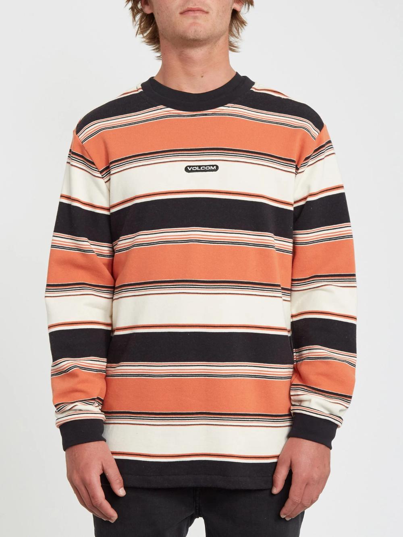 Canionne Crew Sweater Burnt Orange Volcom Europe Long Sleeve Tshirt Men Crew Sweaters Sweaters [ 1332 x 1000 Pixel ]
