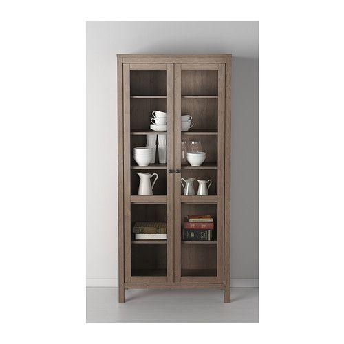 Hemnes Glass Door Cabinet Ikea Solid Wood Has A Natural Feel