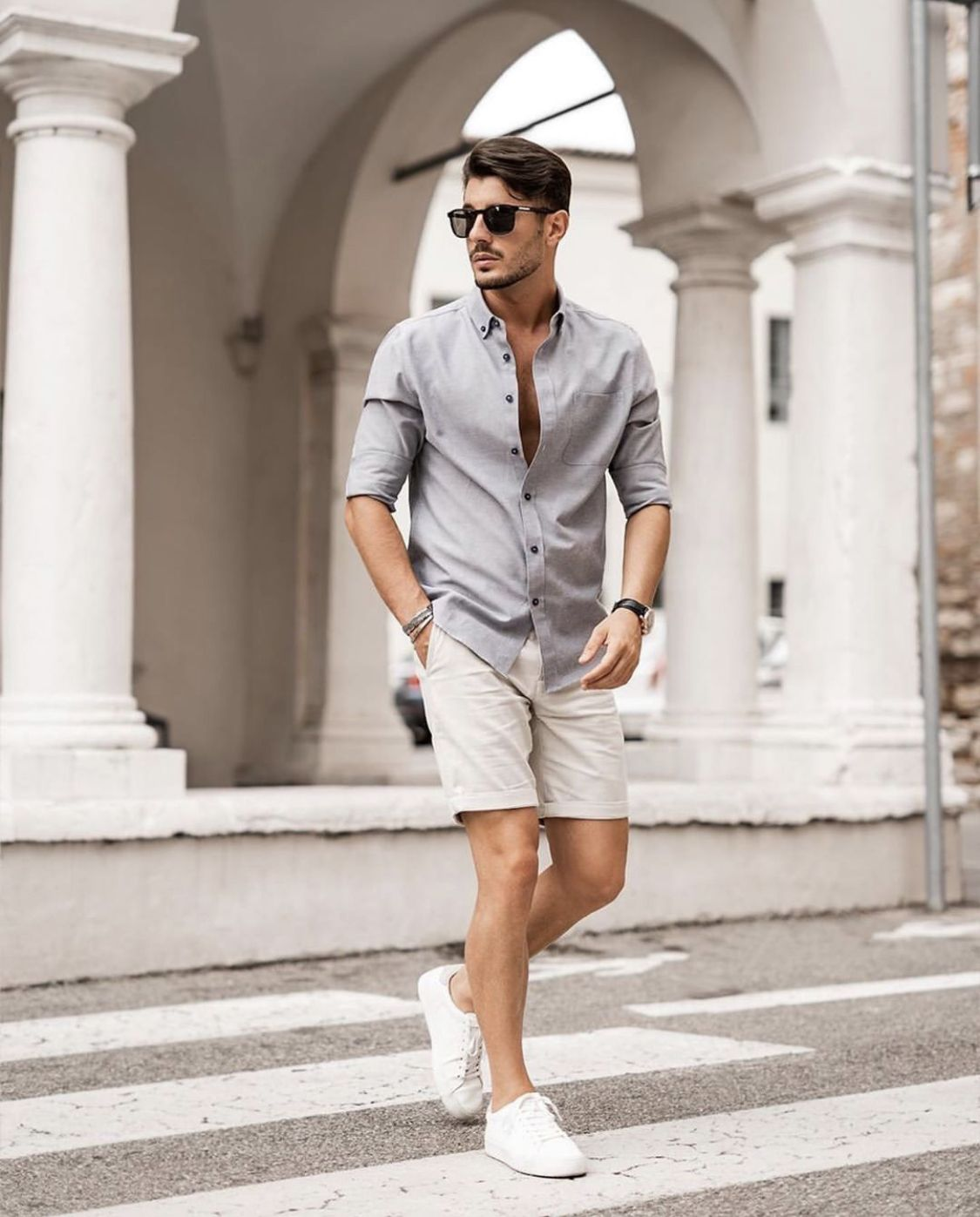 Pin By Nrrr On Shorts Smart Casual Menswear Smart Casual Outfit Men S Summer Smart Casual [ 1397 x 1125 Pixel ]