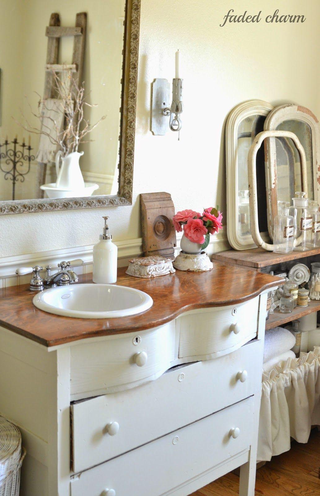 Fresh Flowers Shabby chic bathroom, My home design