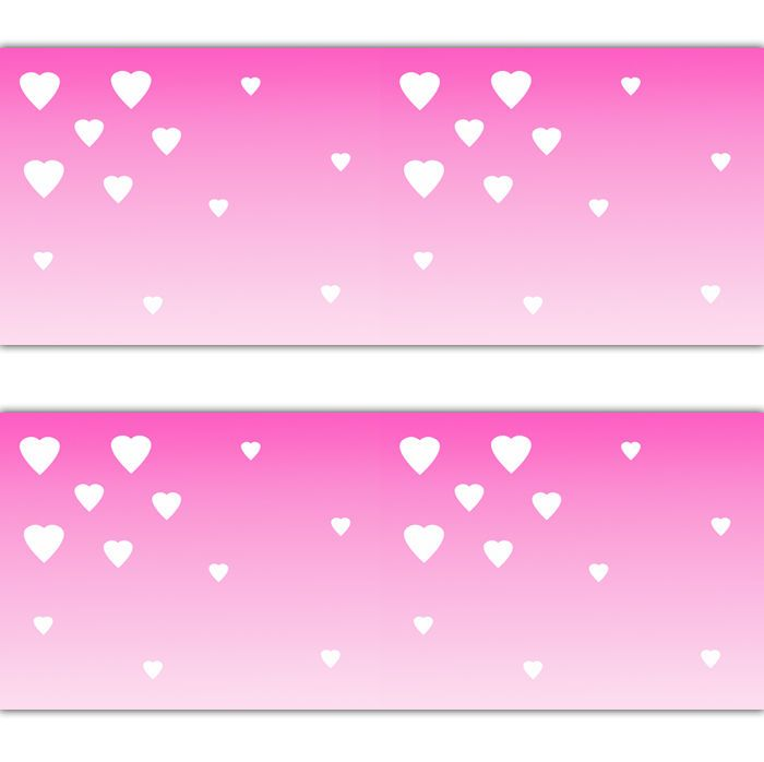 Pink Ombre Heart Wallpaper Border Wall Art Decal Baby Girl Nursery Sticker Decor Decampstudios Decal Wall Art Nursery Stickers Nursery Wall Decor Girl