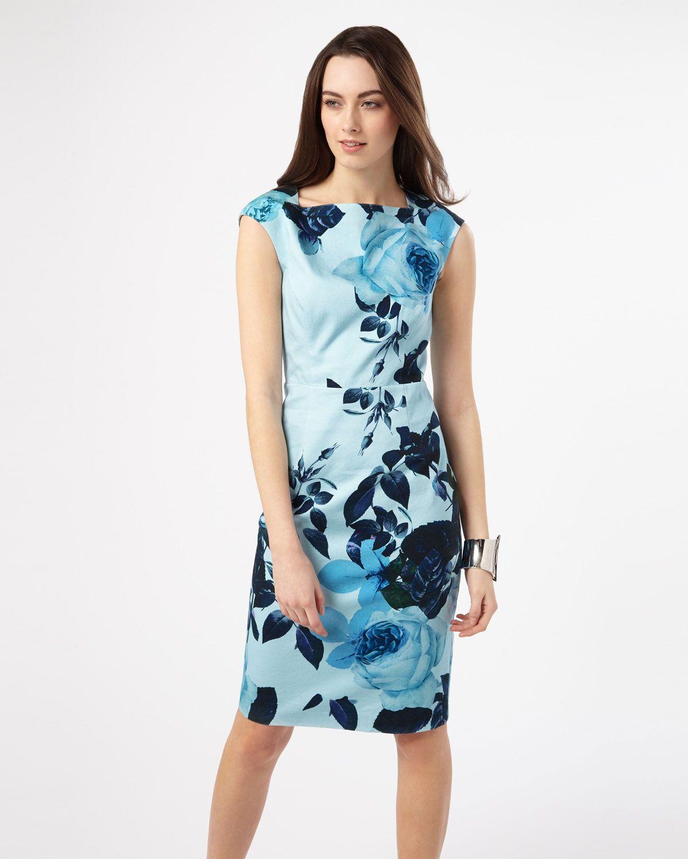 a74a31e61dd1 Phase Eight Chantay Rose Print Dress Blue