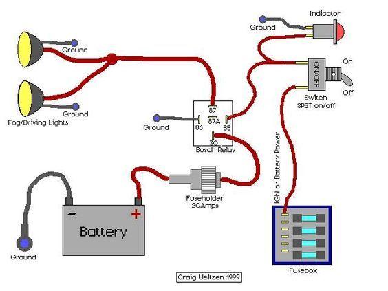 Fog Light Relay Wiring Diagram | Trailer | Jeep wj, Nissan