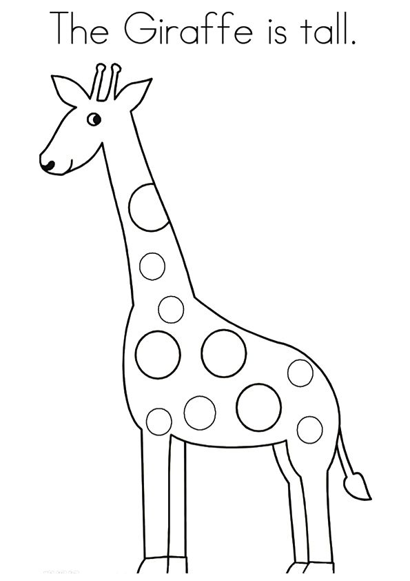 20 Cute Giraffe Coloring Pages For Your Toddlers Giraffe