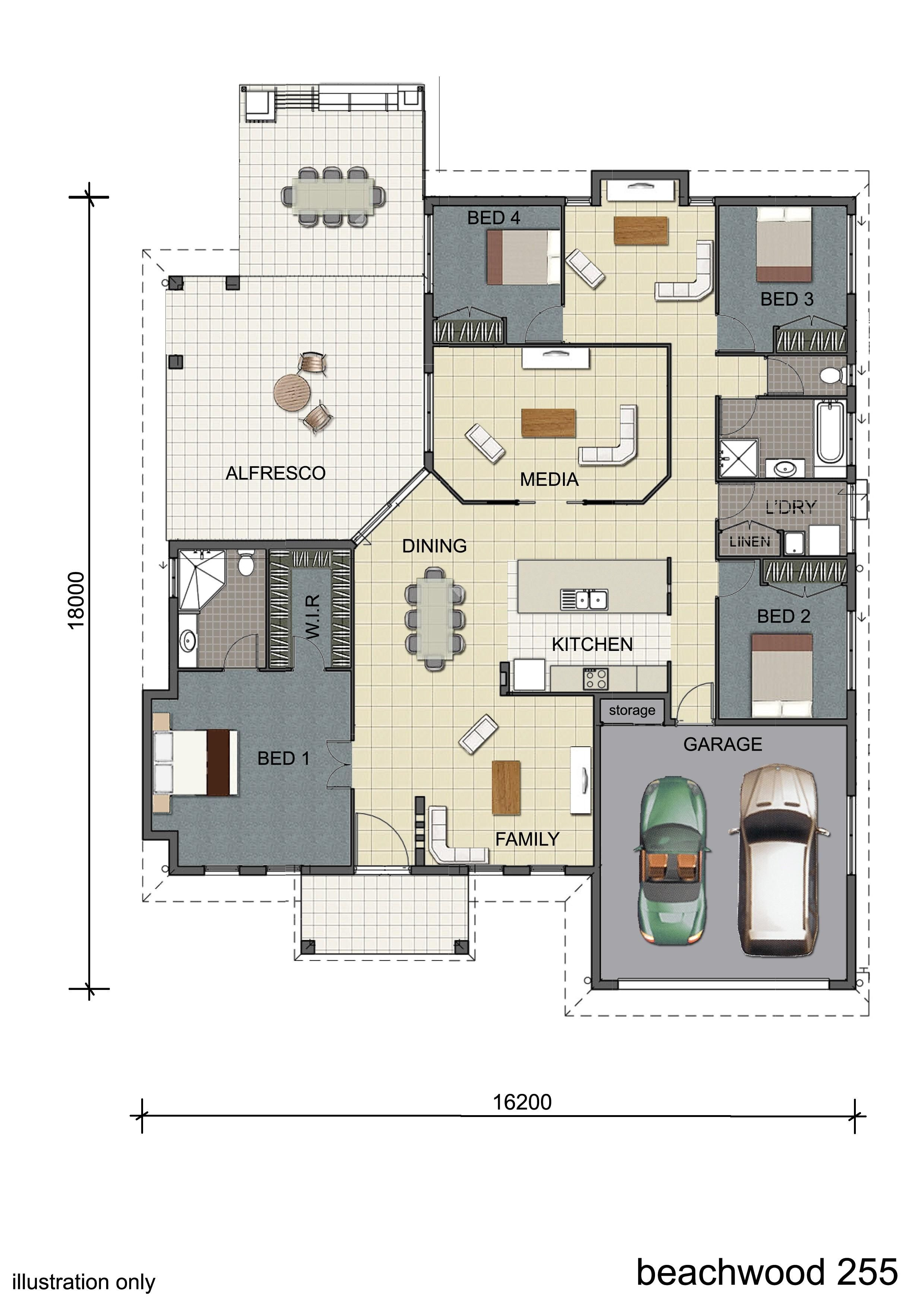 Floorplan design single storey display home design townsville queensland australia grundriss