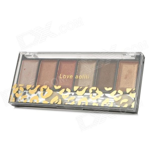 6-Color Cosmetic Makeup Eyeshadow Set - Black + Transparent