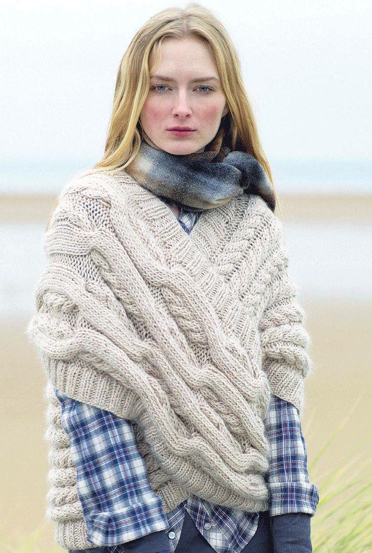 Suéter | Ponchos | Pinterest | Chal, Croché y Tejidos