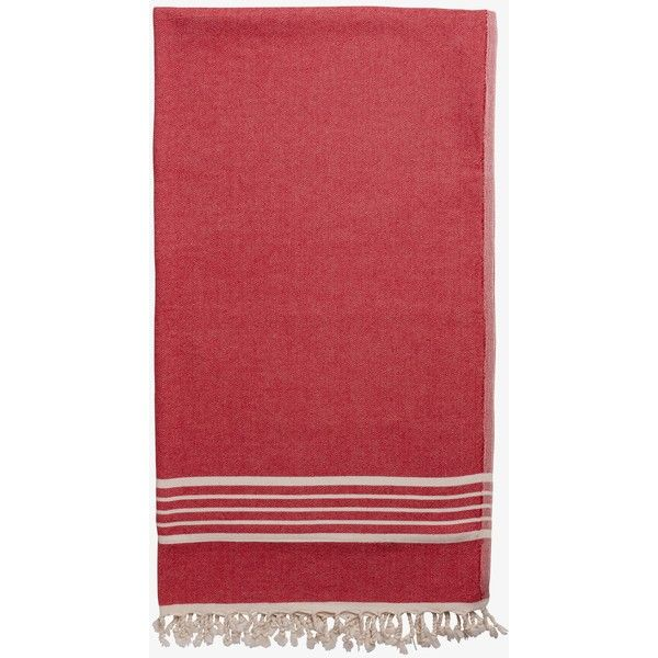 Spa towel, with terry lining, red (€98) ❤ liked on Polyvore featuring home, bed & bath, bath, bath towels, terry bath towel, red bath towels and terry cloth bath towels