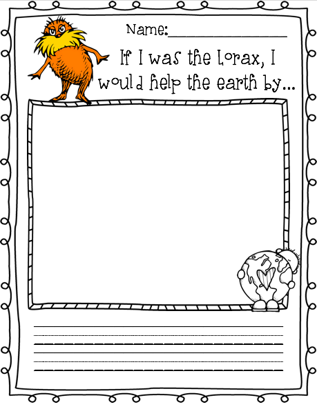 Dr Suess Inspired Writing Drawing Prompts Lorax