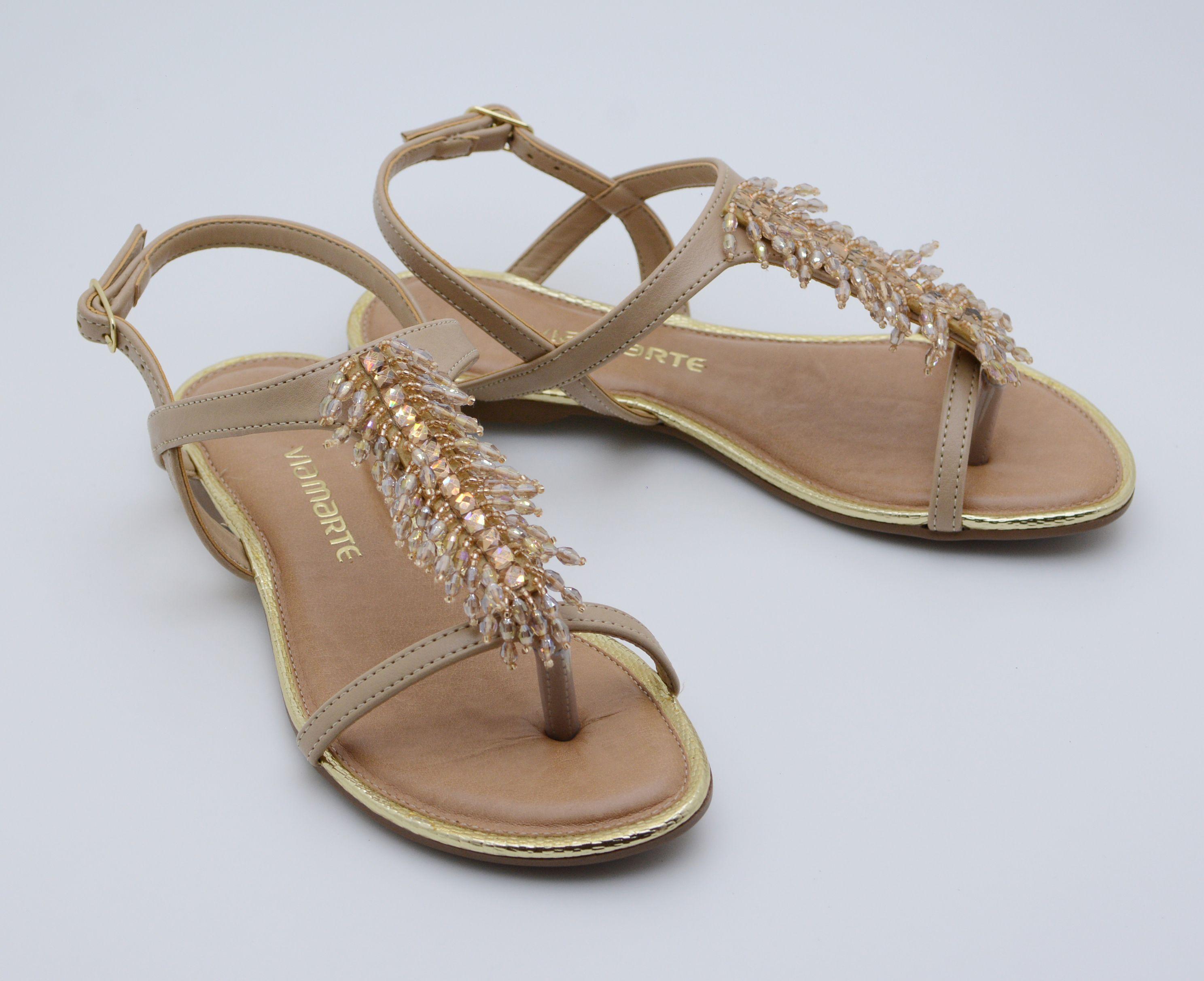 sandálias - rasteiras - chinelos - rasteirinhas - brilho - Verão 2016 - Ref. 15-10704
