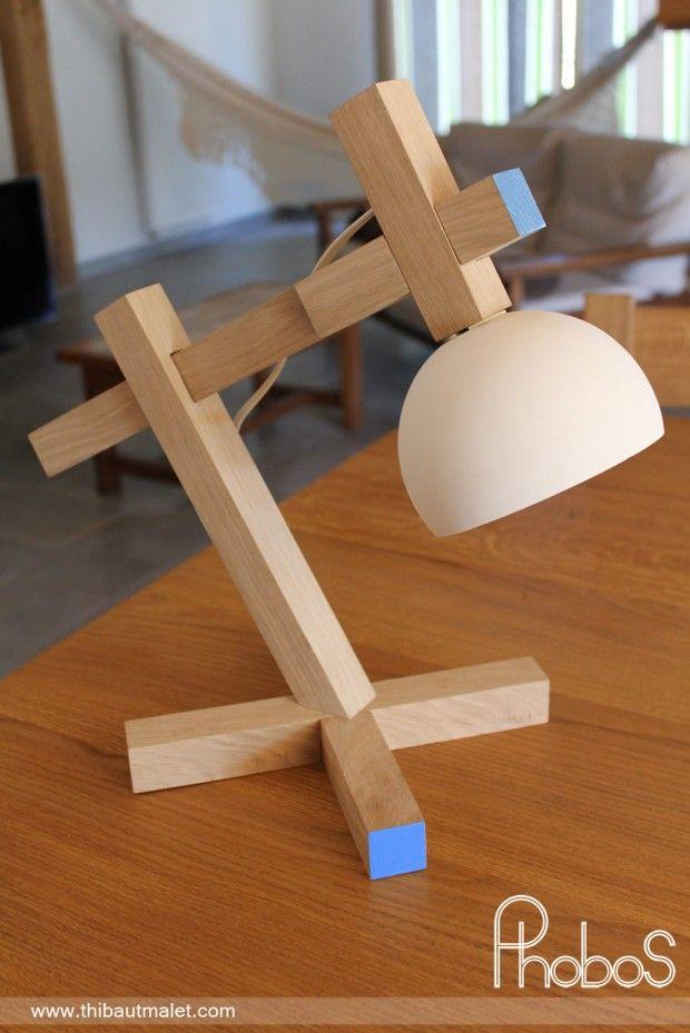 lampe de bureau phobos par thibaut malet lumin rias e marcenaria. Black Bedroom Furniture Sets. Home Design Ideas