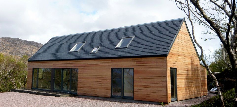 Modern self build house kits from hebridean contemporary for Home building kits