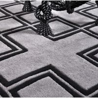 This gorgeous rug with its geometric pattern would add style and sophistication to whichever room you choose to place it. Made from 100% New Zealand wool pile this rug was made with love and built to last! Beautiful!