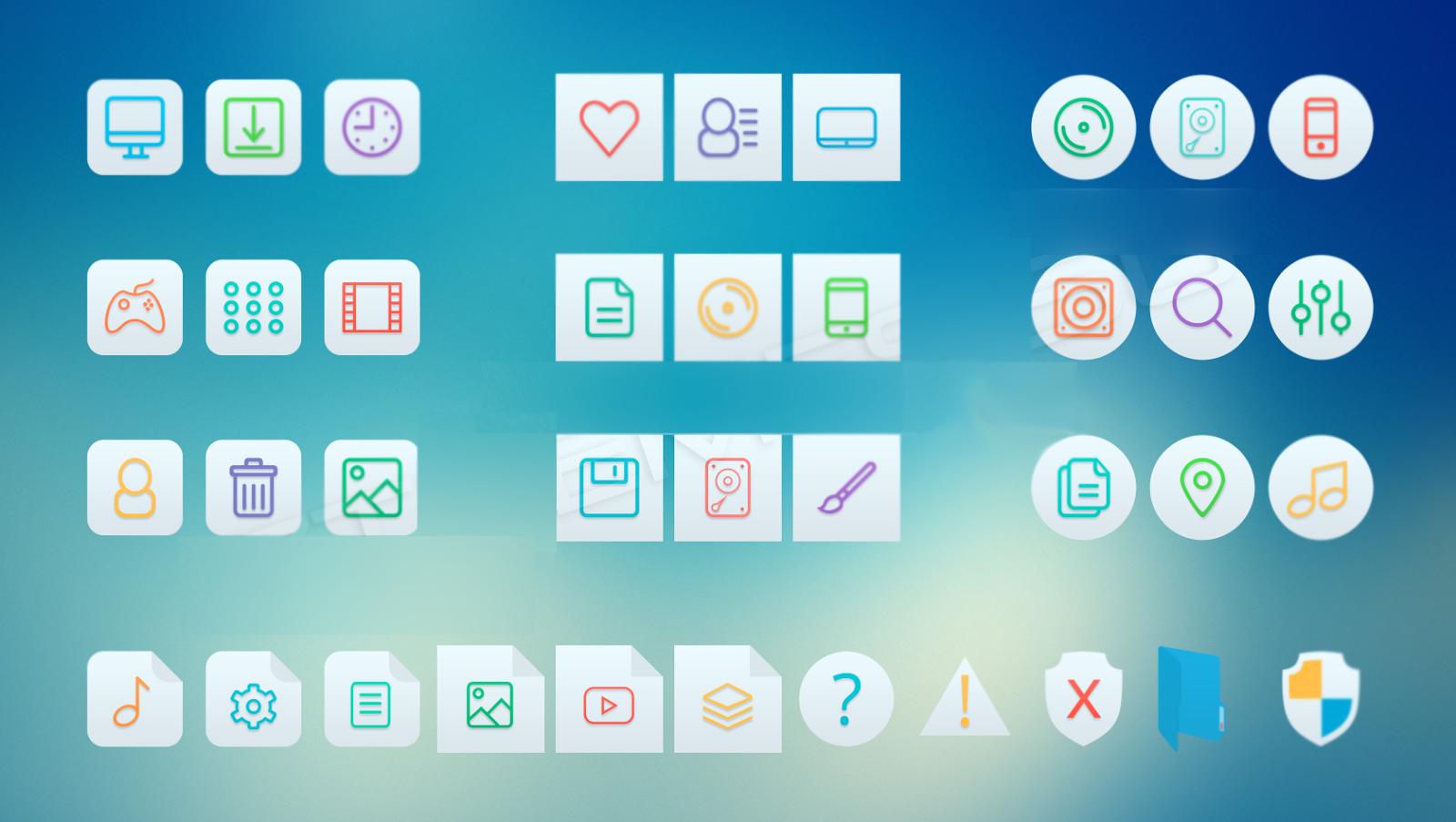 iLine Light Icon Pack 7tsp installer Light icon