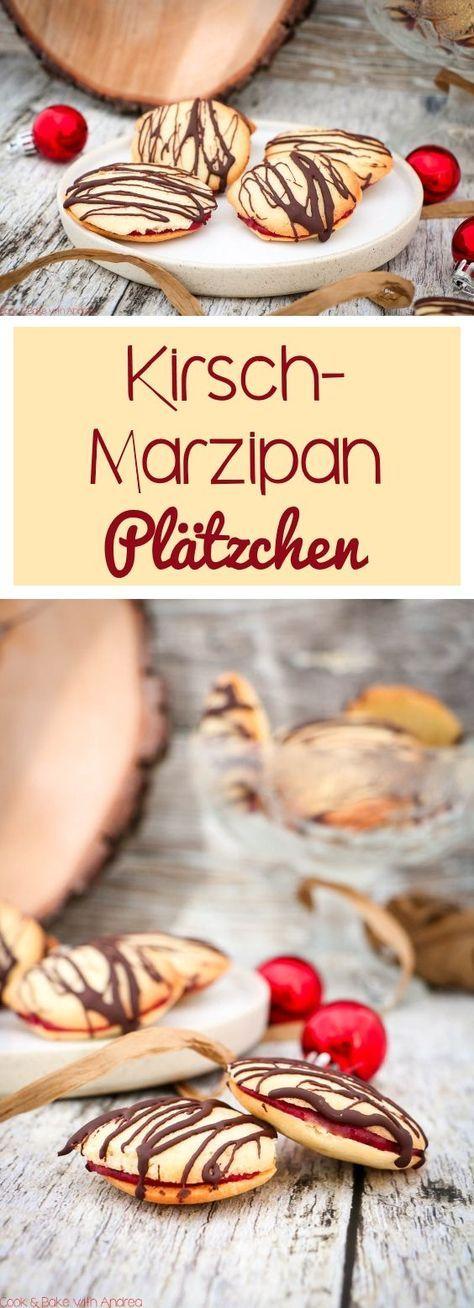 Kirsch-Marzipan-Plätzchen mit Schokolade - C&B with Andrea