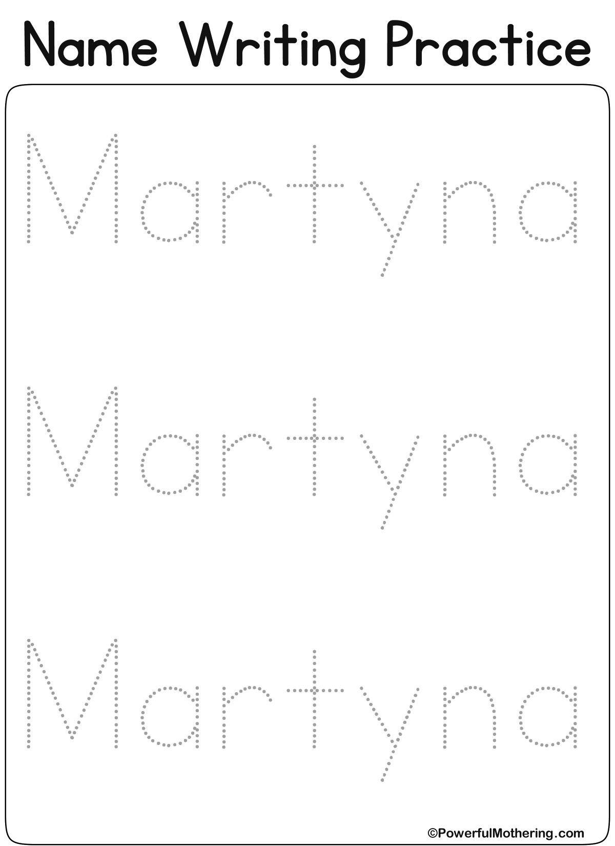 Pin By Anna Kucharska On Name Writing Practice
