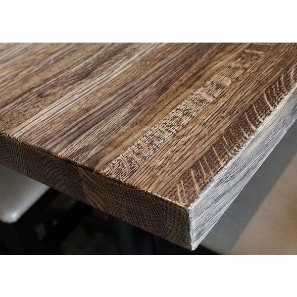 Rustic Quartersawn White Oak Butcher Block Restaurant Tables Liked On Polyvore Featuring Home Furniture Accent