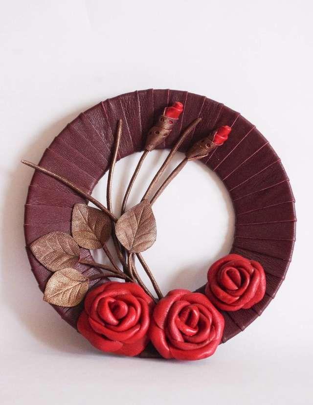 как сделать кожаный цветок мастер класс: 18 тыс ...