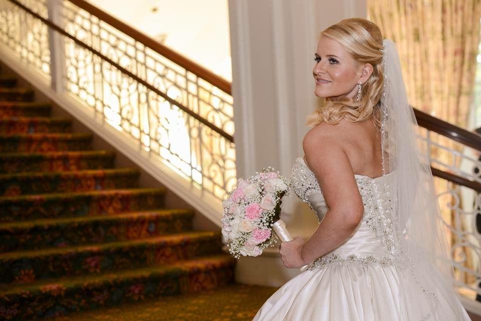 Soft Flowing Curls Disney Wedding Beautiful Wedding Hair Wedding Hairstyles Bridal Hair And Makeup