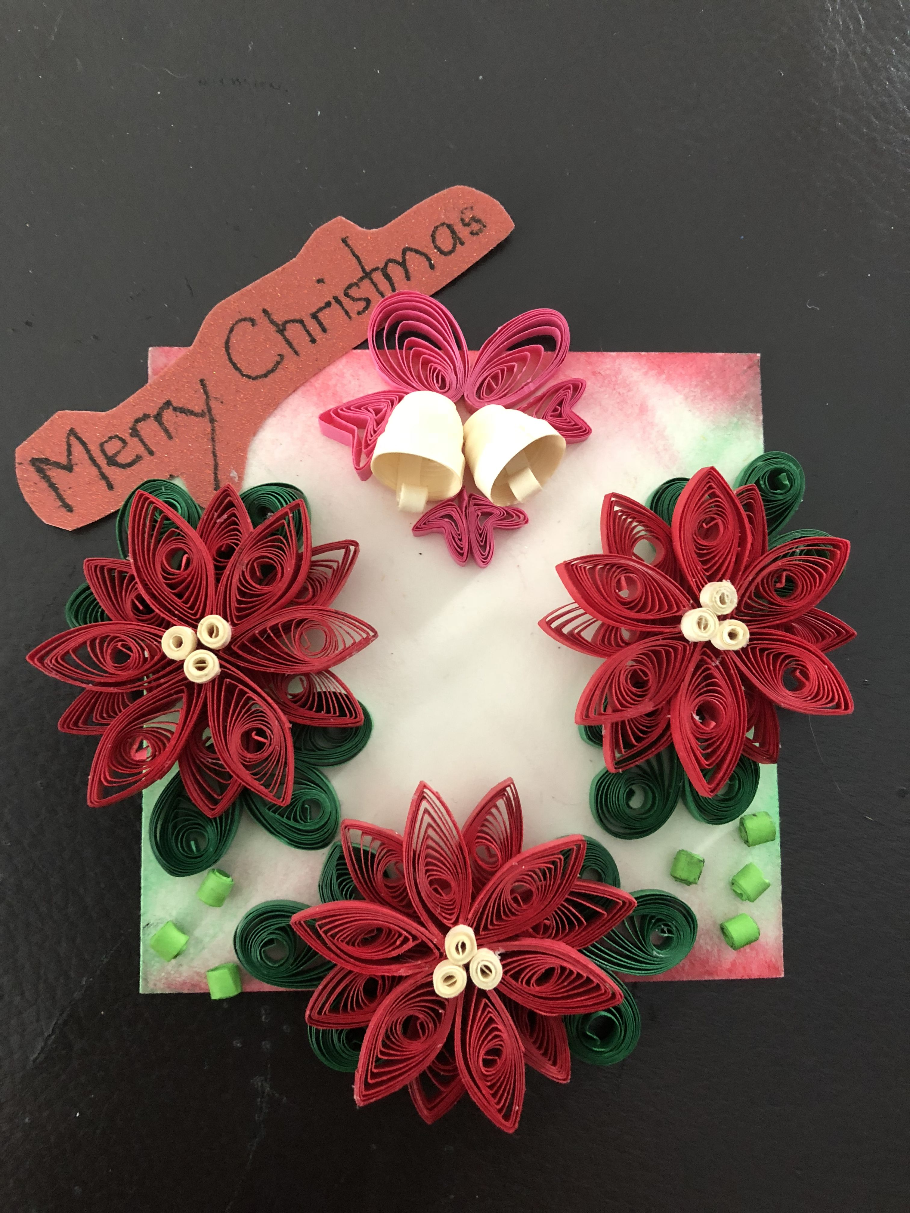 Quilled Christmas Card By Jujukwan Quilling Christmas Paper Quilling Quilling
