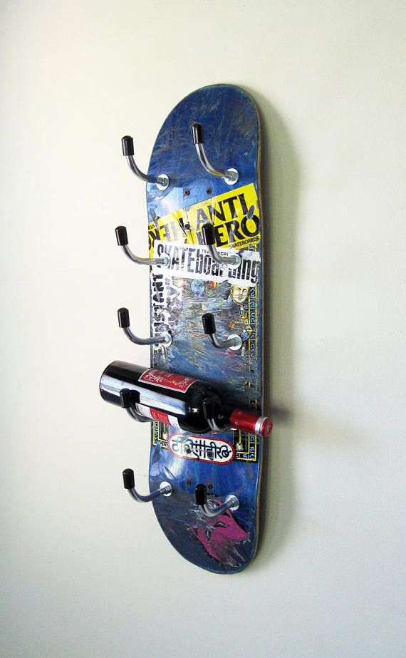 Skateboard Wine Rack, Homemade Wine Rack, Wine Rack Furniture, Kitchen Wall  Shelves, Corner Wine Rack, DIY Wine Rack, Skateboard Deck | Pinterest |  Corner ...