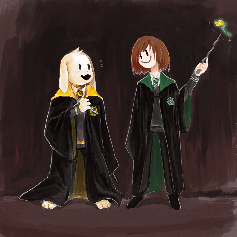 Undertale x Harry Potter (Asriel and Chara ~ This is so accurate