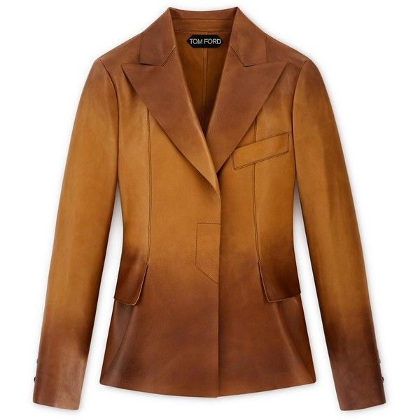 COGNAC PLONGE LEATHER JACKET (33,015 CNY) ❤ liked on Polyvore featuring outerwear, jackets, 100 leather jacket, cognac jackets, cognac leather jacket, real leather jackets and leather jackets