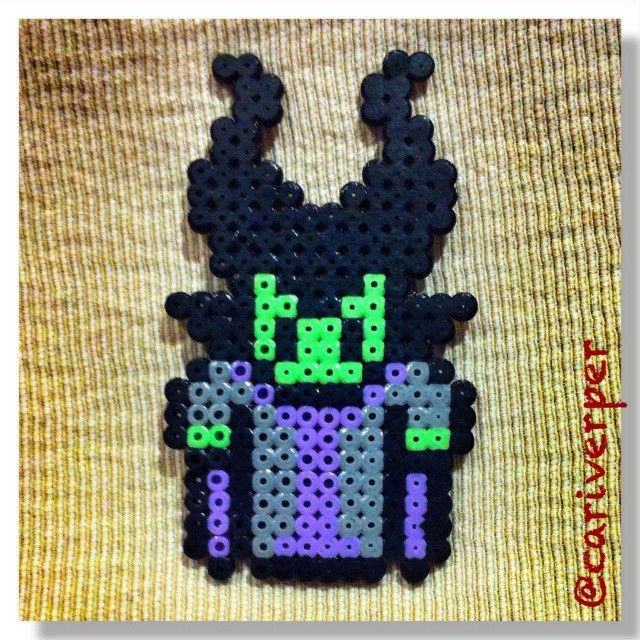 Maleficent perler beads by cariverper