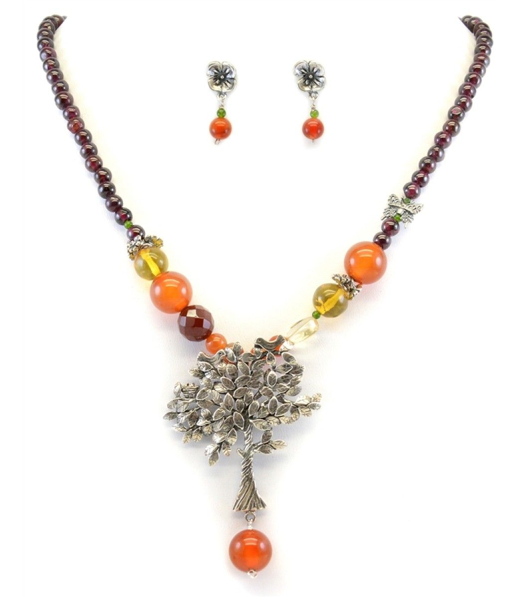 Tree of prosperity necklace and earrings set necklaces pinterest