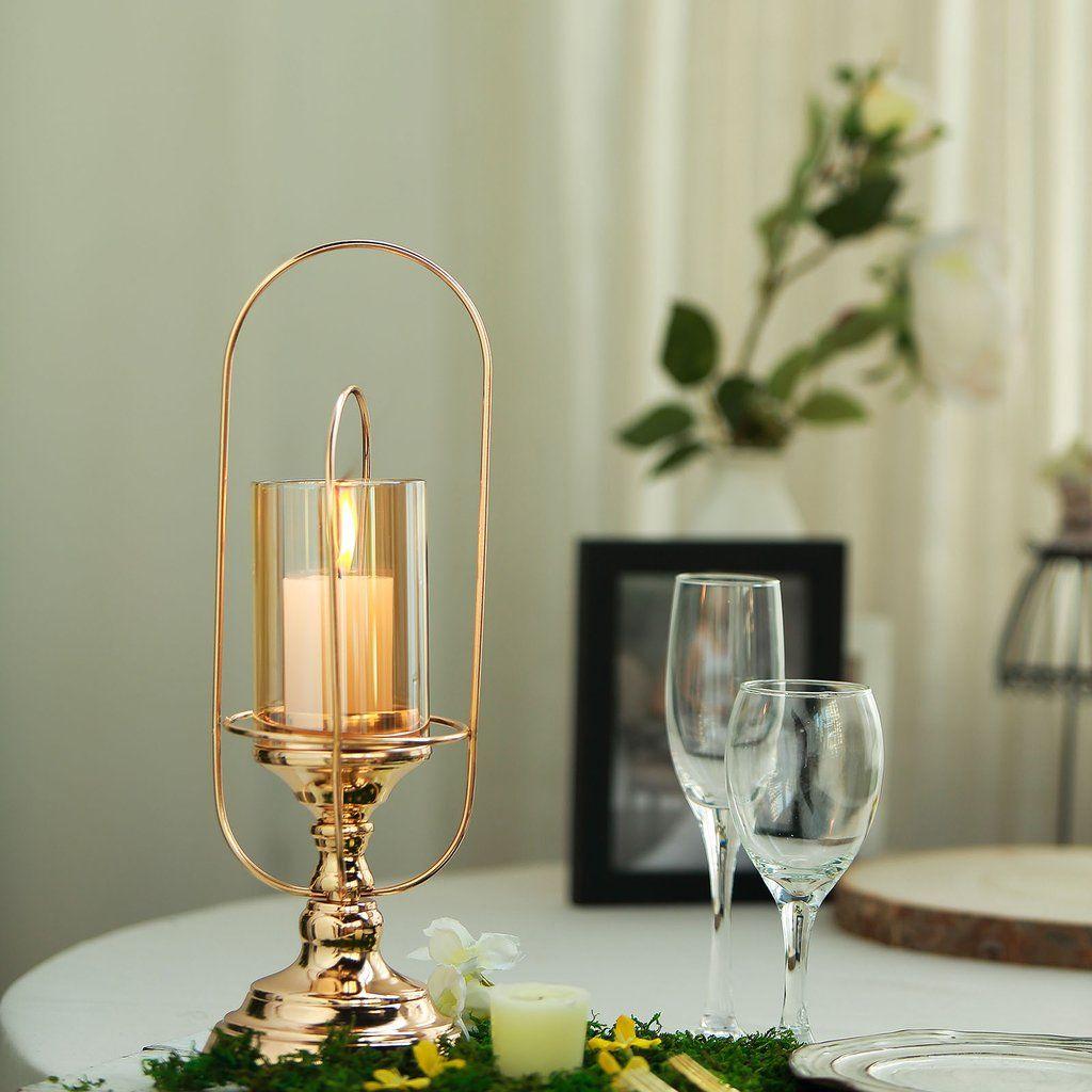 17 Gold Metal Coiled Design Glass Hurricane Candle Holder In 2021 Glass Hurricane Candle Holder Candle Holders Candleholder Centerpieces