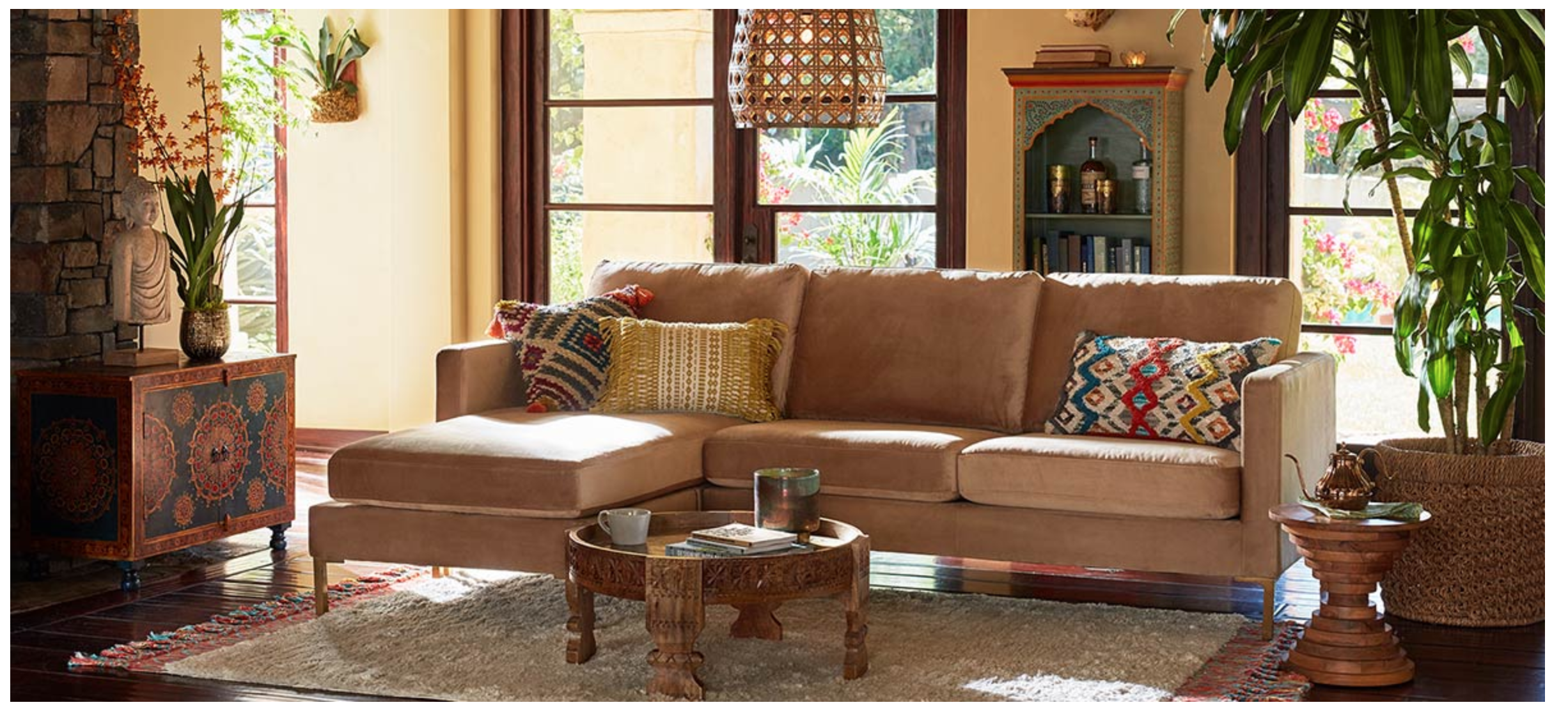 unique living room  sectional sofa with chaise