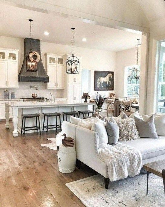 25 Luxurious Living Room Decorating Ideas To Copy This Year Livingroomideas Livingroomdec Dream House Ideas Kitchens Farm House Living Room Home Living Room #open #floor #plan #decorating #living #room