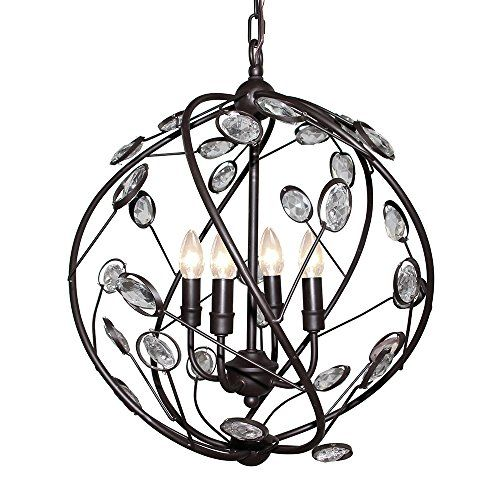 LNC Metal and Crystal Glabe 4 lights Pendant Light ( Bulb Not Included ) LNC http://www.amazon.com/dp/B019DJK5F8/ref=cm_sw_r_pi_dp_jMAWwb10D7WGF