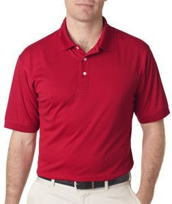8315 Ultraclub Mens Platinum Performance Pique Polo With Tempcontrol  Technology Red