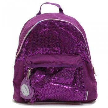 Twinkle Toes Purple Sequined Girls School Backpack Book Bag Tote ...