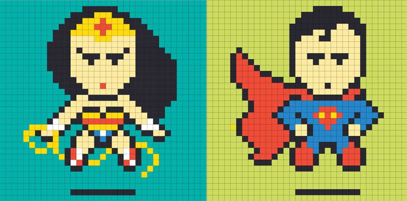 Post-it 8-bit art