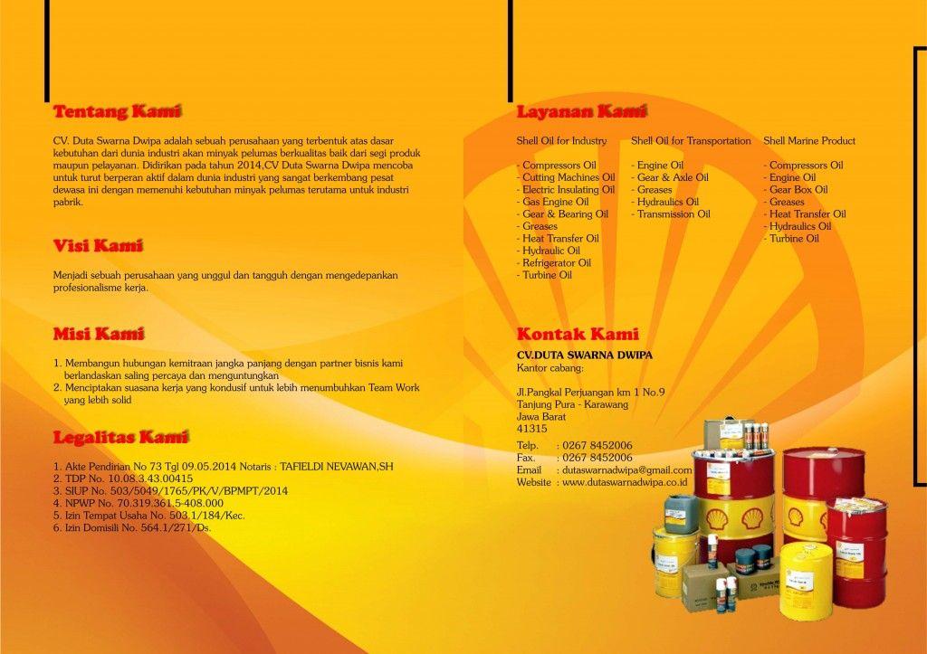 Company Profile Duta Swarna Dwipa Distributor Oli Shell 2014 cover - company profile format