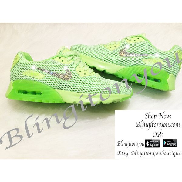 Nike Women's Air Max 90 Ultra Bling Shoes Bedazzled /