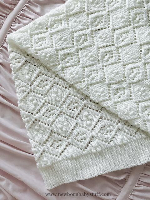 Baby Knitting Patterns Thine Receiving Blanket Free Baby Knit ...