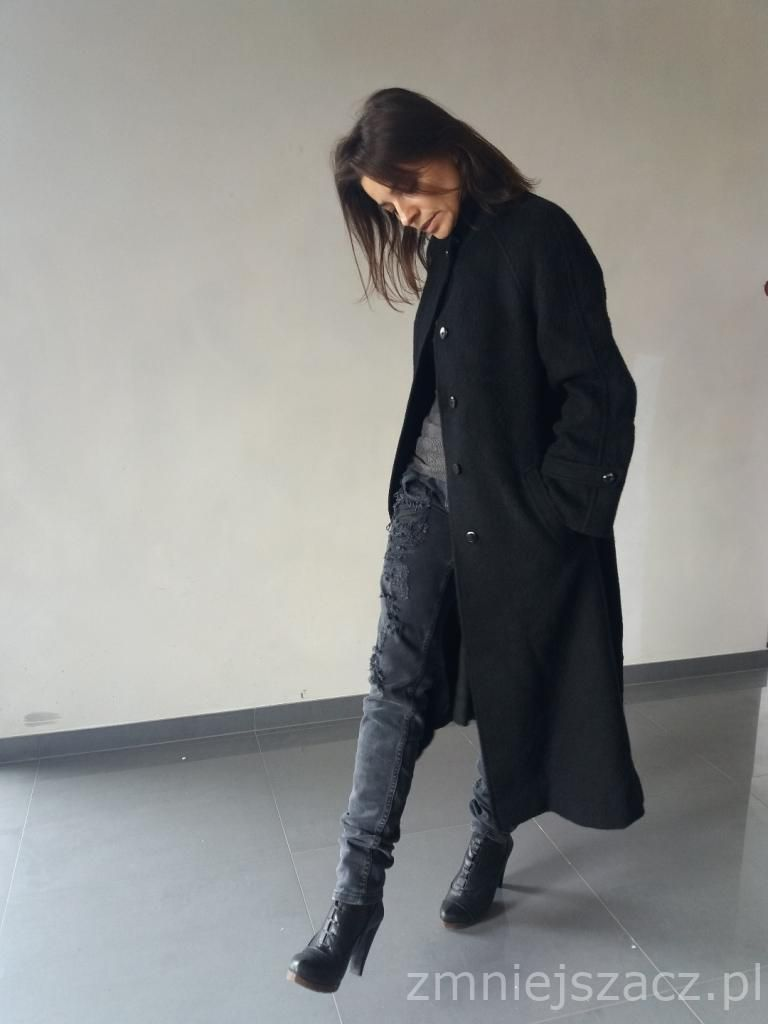Klasyka Na Czasie Czern Welna 36 7631256732 Oficjalne Archiwum Allegro Style Fashion Goth