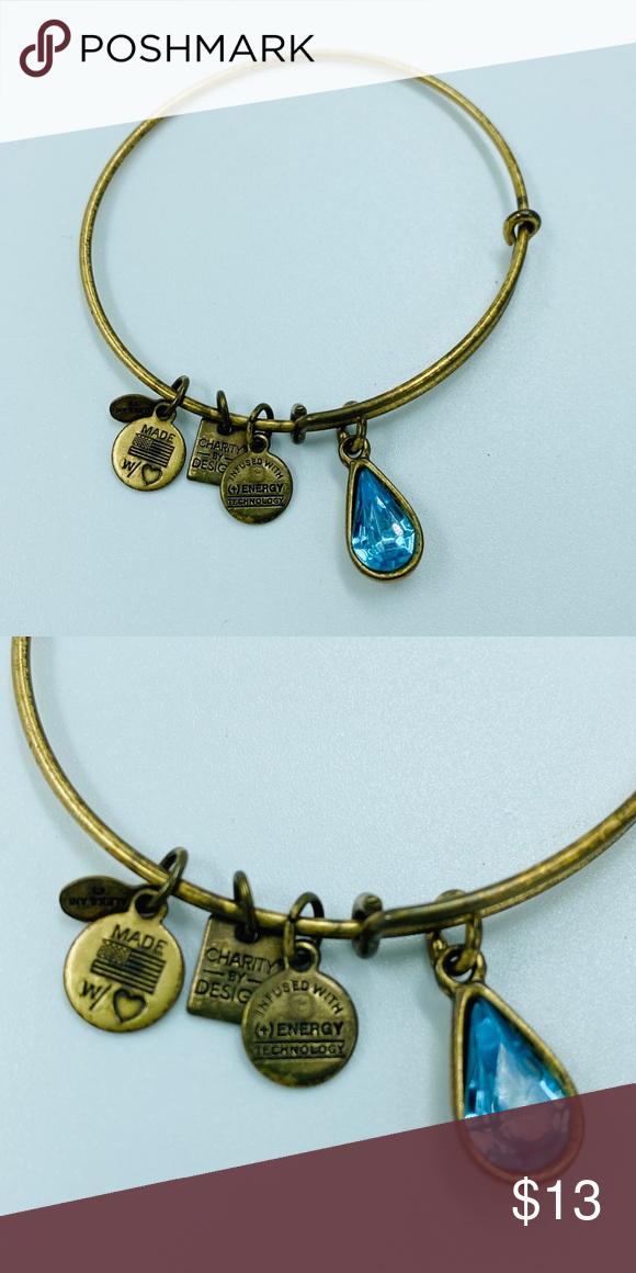 Alex & Ani Bangle Bracelet Turquoise Gemstone
