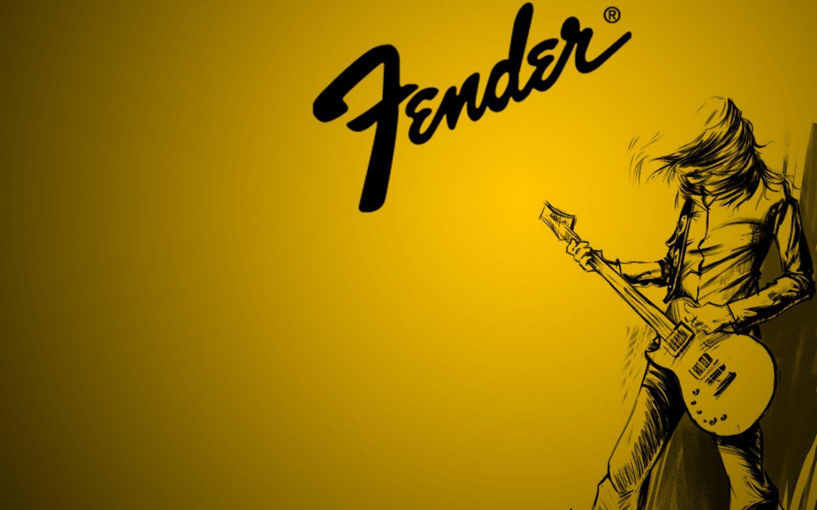 Fender Guitar Yellow Wallpapers For Desktop Hd Wallpapers In Music Fender Electric Guitar Music Wallpaper Guitar Images