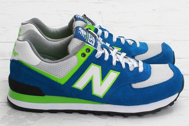 ml 574 new balance navy blue and green