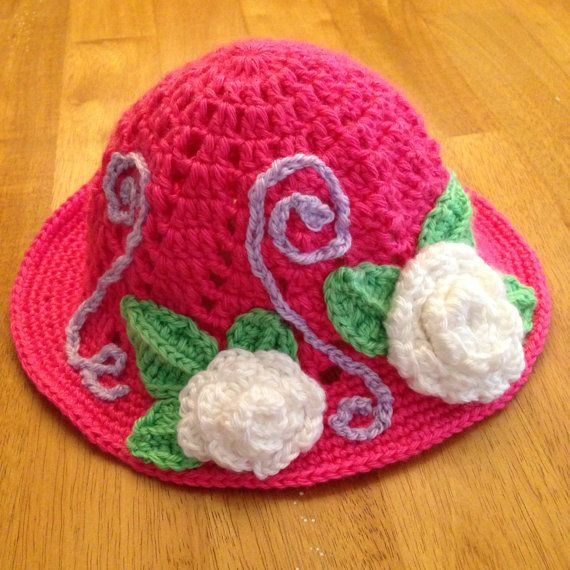 Little Girl Crochet Hat by CogarCrochet on Etsy.  Very adorable cant wait to order one for my little girl :)