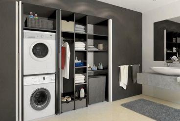 multifunctional bathroom - washing machine and co