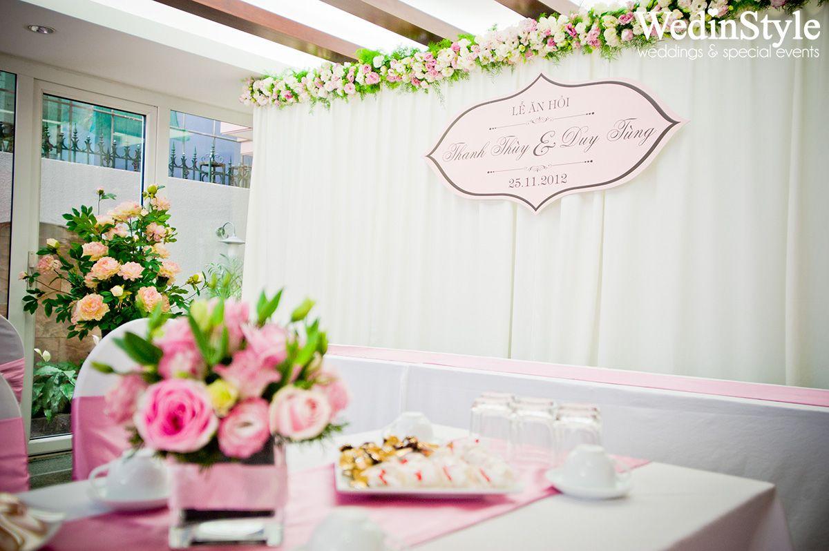 Wedding decorations backdrop  Trang trí lễ ăn hỏi đón dâu tại nhà  Engagement Decorations
