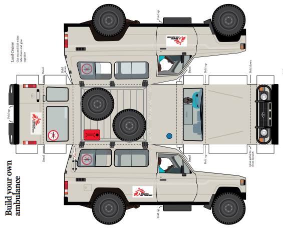 Print off your own cut out msf land cruiser agyf for 3d drawing online no download