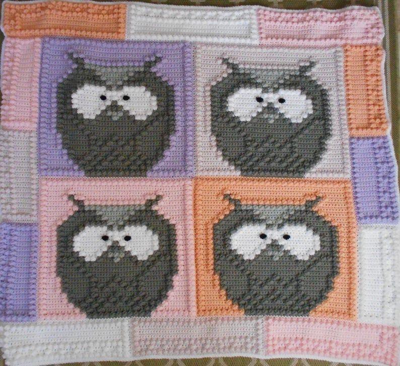 JUNGLE pattern for crocheted blanket #junglepattern